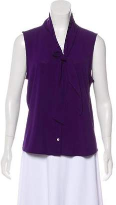 Calvin Klein Sleeveless Button-Up Top