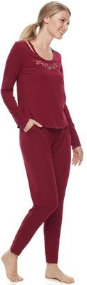 Flora Nikrooz Flora By Women's Flora by Pajamas: Eleanor Knit 2-Piece PJ Set
