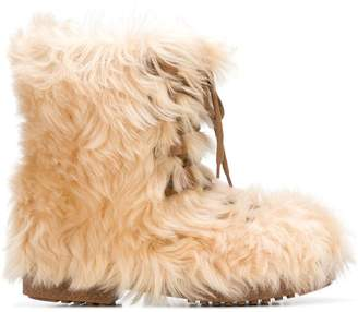 Saint Laurent Furry boots