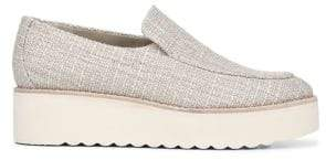 Vince Zeta Raffia Platform Loafers