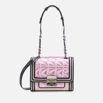 Karl Lagerfeld Women's K/Kuilted Pink Mini Handbag - Metallic Pink