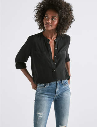 Lucky Brand SOLID LONG SLEEVE BUTTON-DOWN SHIRT