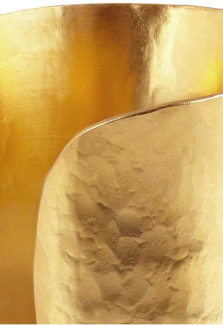 Herve Van Der Straeten Hammered gold-plated cuff