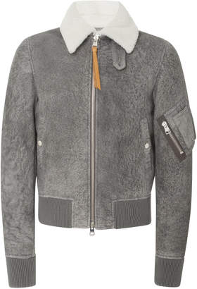 J.W.Anderson Shearling-Lined Suede Aviator Jacket