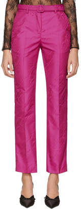 Off-White Pink Moire Cigarette Trousers
