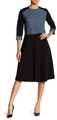 Couture Go GO Modest Long Sleeve Knee Length Dress
