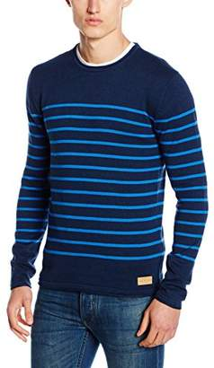 Esprit edc by Men's 096CC2I017 Jumper, Blue (Navy)