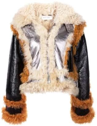 Marques Almeida Marques'almeida fur trim shearling jacket