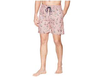 U.S. Polo Assn. 7 Sailboat Print Swim Short Men's Swimwear