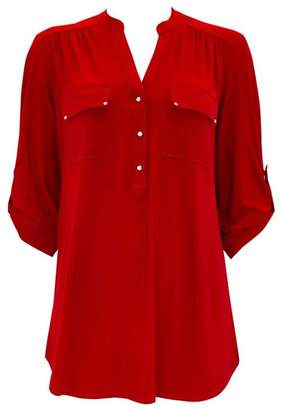 Wallis Red Longline Shirt