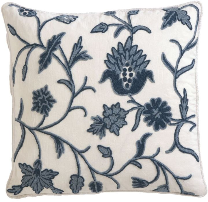 Crewel Blue Pillow