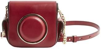 Michael Kors Burgundy Leather Clutch Bag