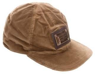 Dolce & Gabbana Corduroy Baseball Cap w/ Tags Olive Corduroy Baseball Cap w/ Tags