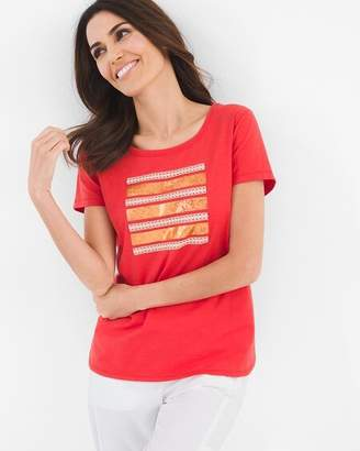Chico's Chicos Striped Square Tee