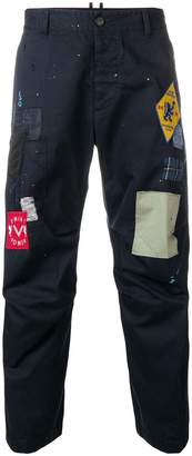 DSQUARED2 patch appliqué trousers