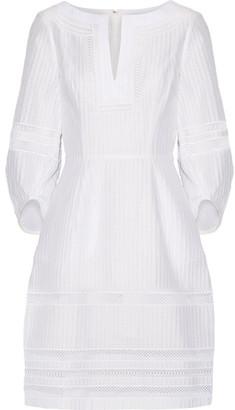 Oscar de la Renta - Crochet-trimmed Textured Cotton-blend Dress - White $2,490 thestylecure.com