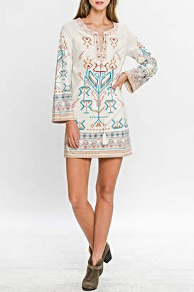 Flying Tomato Aztec Suede Dress