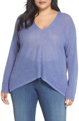 Eileen Fisher Boxy Organic Linen Blend Sweater