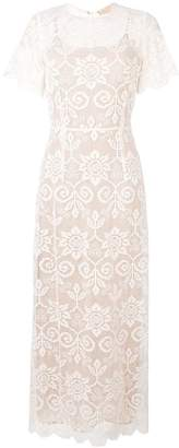 Cavallini Erika lacework long dress