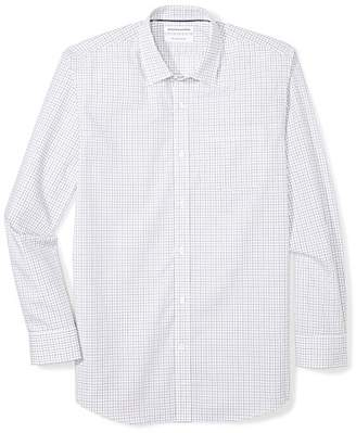 Amazon Essentials Men's Regular-Fit Wrinkle-Resistant Long-Sleeve Plaid Dress Shirt