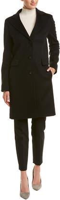 Cinzia Rocca Wool & Cashmere-Blend Long Coat