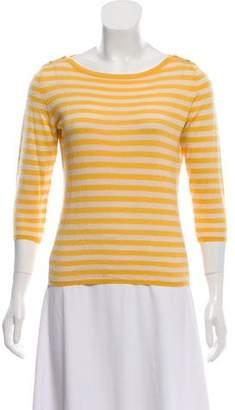 Oscar de la Renta Striped Cashmere Sweater