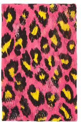 Gucci Leopard Print Stretch Lace Tights - Womens - Pink