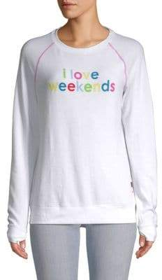 Peace Love World I Love Weekends Sweater