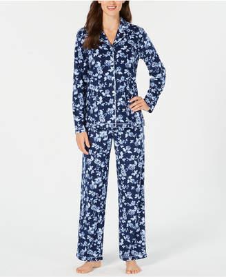 Charter Club Petite Printed Fleece Pajama Set