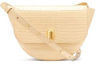 Wandler Billy Small Crocodile Effect Leather Shoulder Bag - Womens - Beige