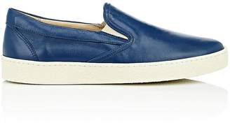Barneys New York MEN'S CREPE-SOLE LEATHER SLIP-ON SNEAKERS