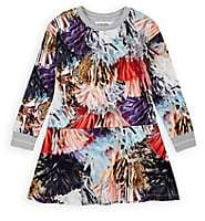 Molo Kids Kids' Conny Pom-Pom-Print Cotton Dress