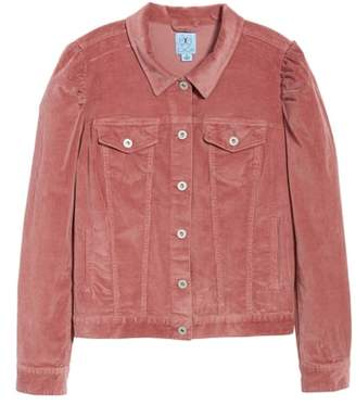 CeCe Puff Sleeve Stretch Cotton Corduroy Jacket