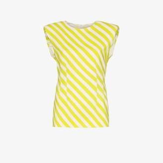 Dries Van Noten striped padded shoulder top