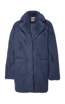 Apparis Sophie Collared Faux Fur Coat