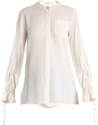 Altuzarra Christina fluted-cuff silk-blend crepe blouse