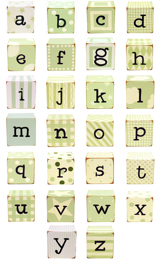Block Letters in Green