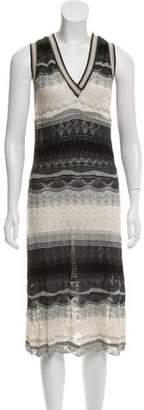 Jean Paul Gaultier Mesh Pattern Knit Dress