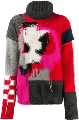 McQ patchwork knit jumper