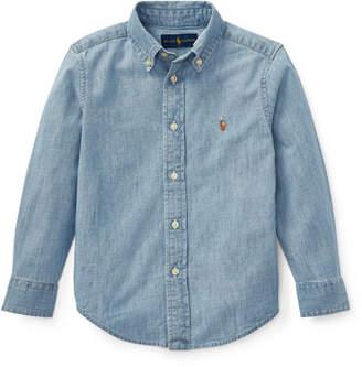 Ralph Lauren Childrenswear Woven Chambray Shirt, Size 2-3