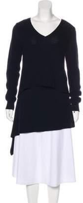 Derek Lam V-Neck Cashmere Sweater Navy V-Neck Cashmere Sweater