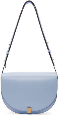Victoria Beckham Blue Half Moon Bag