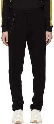 Bottega Veneta Black Compact Bistretch Wool Trousers