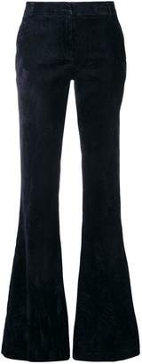 Kiltie textured flared trousers