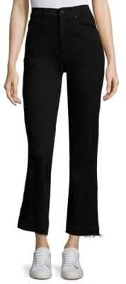 Derek Lam Leah High-Rise Straight-Leg Cropped Jeans