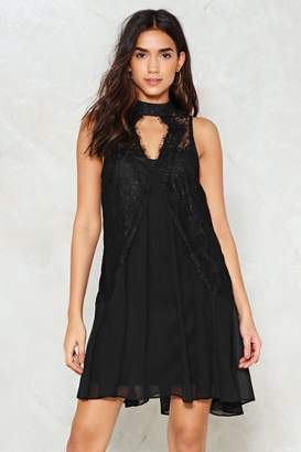 Nasty Gal Mesh Appeal Lace Dress