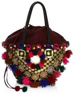 Figue Frida Tuk Tuk Embellished Top Handle Bag