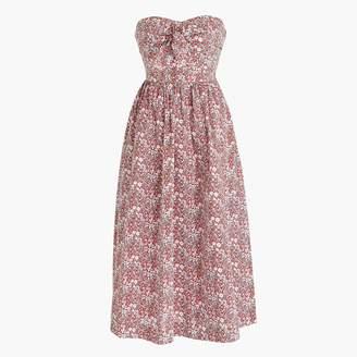 J.Crew Tie-front strapless dress in Liberty® June's Meadow