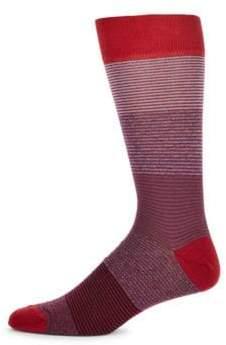 Saks Fifth Avenue Jaspe Tonal Socks