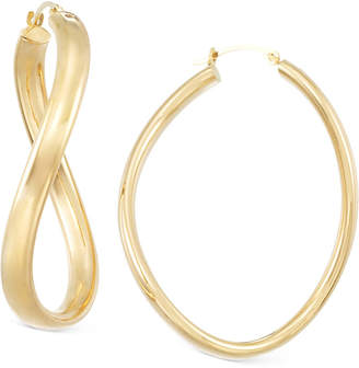 Signature Gold Figure-Eight Hoop Earrings in 14k Gold over Resin